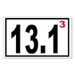 Half Marathon 3 Rectangle Sticker