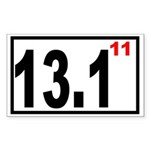 Half Marathon 11 Rectangle Sticker