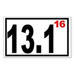 Half Marathon 16 Rectangle Sticker