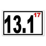 Half Marathon 17 Rectangle Sticker