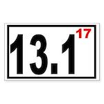Half Marathon 17 Rectangle Sticker