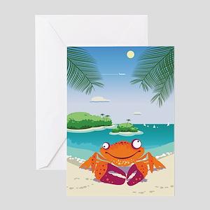 Funny Crab Greeting Card