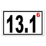Half Marathon 6 Rectangle Sticker