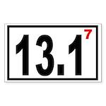 Half Marathon 7 Rectangle Sticker
