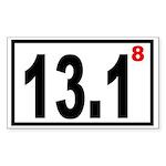 Half Marathon 8 Rectangle Sticker