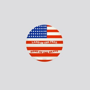 Land of the Free Mini Button