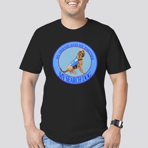 bloodhound search dog Men's Fitted T-Shirt (dark)