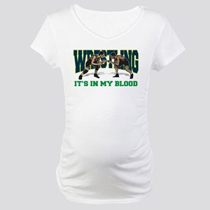 Wrestling It's In My Blood Maternity T-Shirt