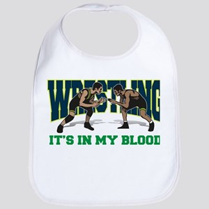 Wrestling It's In My Blood Bib