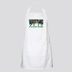 Wrestling It's In My Blood BBQ Apron