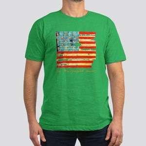 """Star-Spangled Banner"" Men's Fitted T-Shirt (dark)"