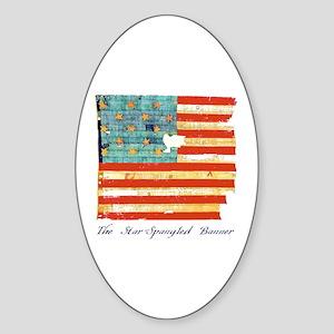 """Star-Spangled Banner"" Oval Sticker"