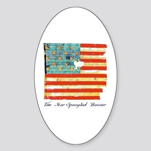 """Star-Spangled Banner"" Oval Sticker"
