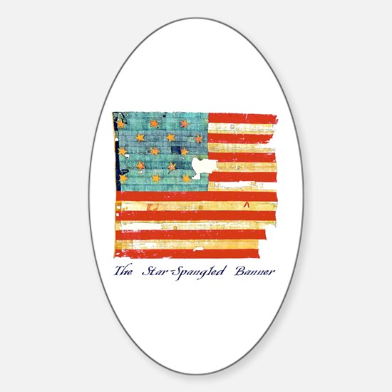 """""""Star-Spangled Banner"""" Oval Decal"""