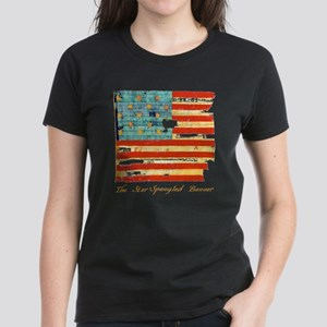 """Star-Spangled Banner"" Women's Dark T-Shirt"