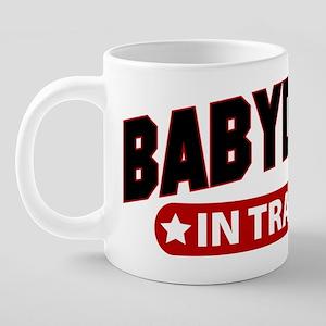BabbyDaddyInTraining-Light. 20 oz Ceramic Mega Mug
