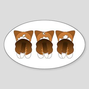 Tri Cardigan Oval Sticker