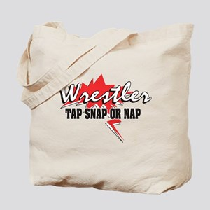 Tap Snap or Nap Wrestler Tote Bag