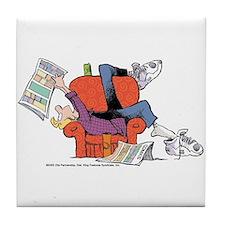 Jeremy Reading Comics Tile Coaster