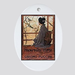 Madama Butterfly Oval Ornament