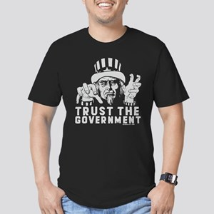 Zombie Uncle Sam Men's Fitted T-Shirt (dark)