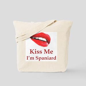 Kiss Me Spaniard Tote Bag