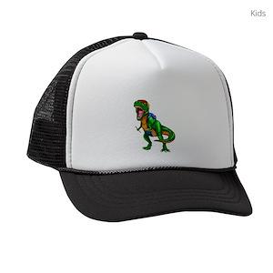 Kids Dinosaur Kids Trucker Hats - CafePress 237e8d3814f2