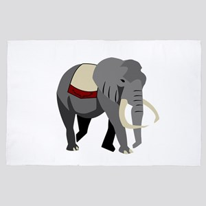 Gray Elephant Walking with Pride 4' x 6' Rug