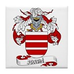 Jordà Coat of Arms Tile Coaster