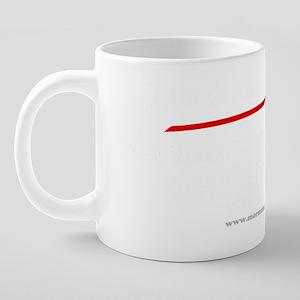 White Supremacy white text. 20 oz Ceramic Mega Mug