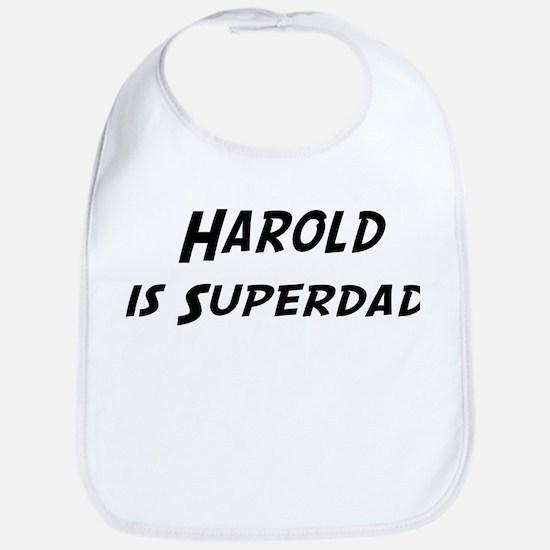 Harold is Superdad Bib