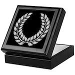 Black with Silver laurel Keepsake Box