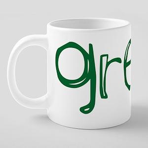 green 20 oz Ceramic Mega Mug