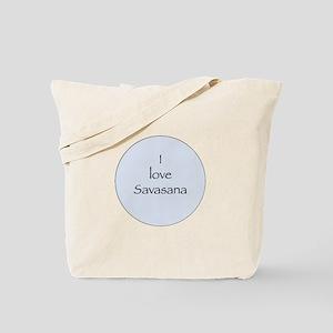 I love Savasana Tote Bag