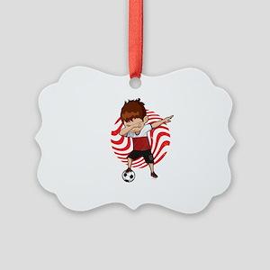 Football Dab Poland Poles Footbal Picture Ornament
