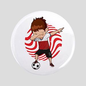 """Football Dab Poland Poles Footballer D 3.5"""" Button"""
