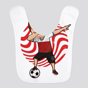 Football Dab Poland Poles Footb Polyester Baby Bib