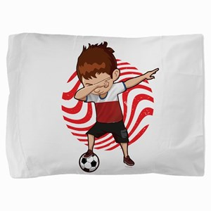 Football Dab Poland Poles Footballer D Pillow Sham