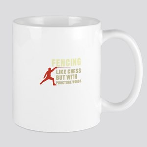 Fencing But Like Chess Puncture Words Swordsm Mugs