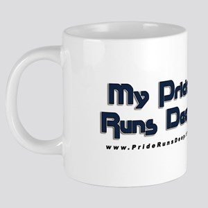 My Pride Runs Deep - Flag 20 oz Ceramic Mega Mug