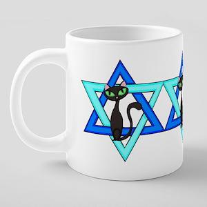 Jewish Cat Stars 20 oz Ceramic Mega Mug