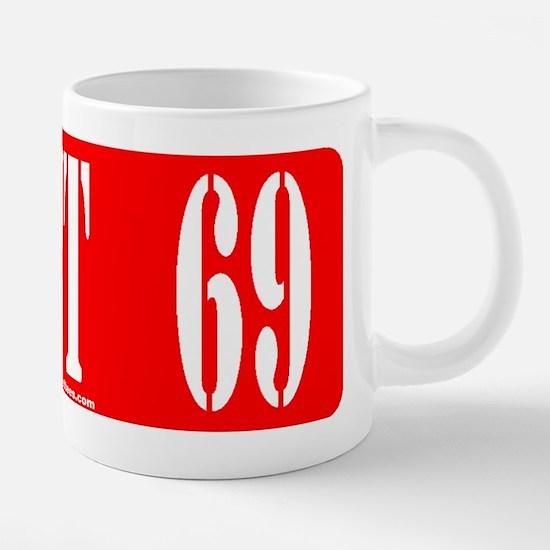 AGENT 69 20 oz Ceramic Mega Mug