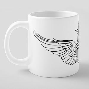 US Army Aviator Badge - Sen 20 oz Ceramic Mega Mug