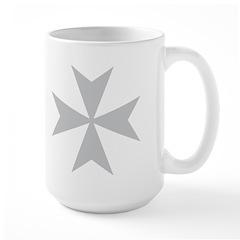 Silver Maltese Cross Large Mug