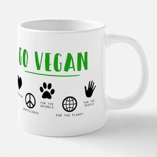 Go Vegan 20 oz Ceramic Mega Mug