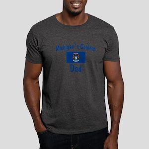 Coolest Michigan Dad Dark T-Shirt