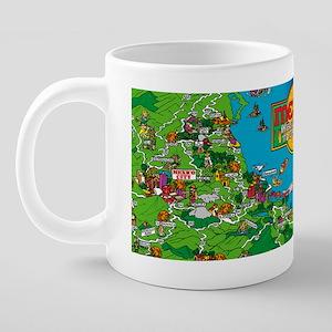 Mexico City to Cozumel Cart 20 oz Ceramic Mega Mug