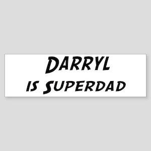 Darryl is Superdad Bumper Sticker