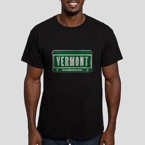 Vermont Plate Men's Fitted T-Shirt (dark)