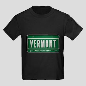 Vermont Plate Kids Dark T-Shirt